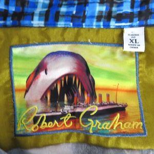 Robert Graham Shirts - Robert Graham JAWS DEEP SEA XL Short Sleeve Shirt